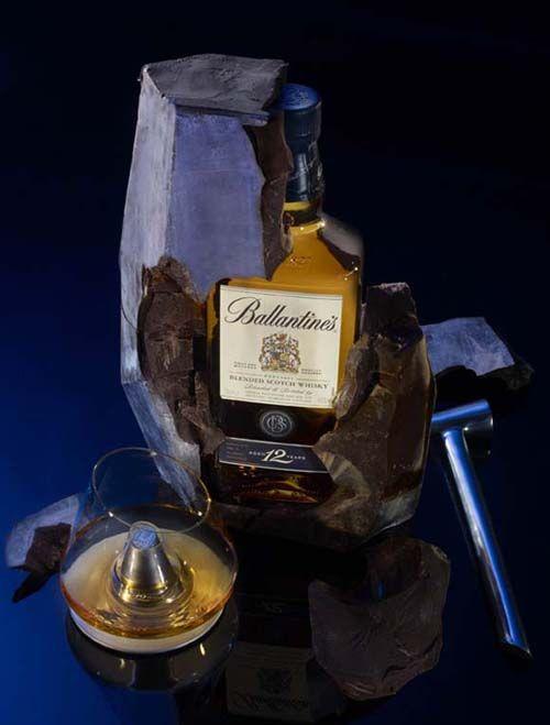 Ballantine's bottle design
