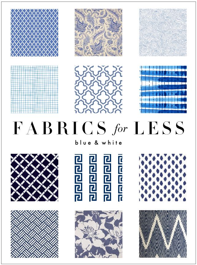 Kelly Market: FABRIC FOR LESS: BLUE AND WHITE