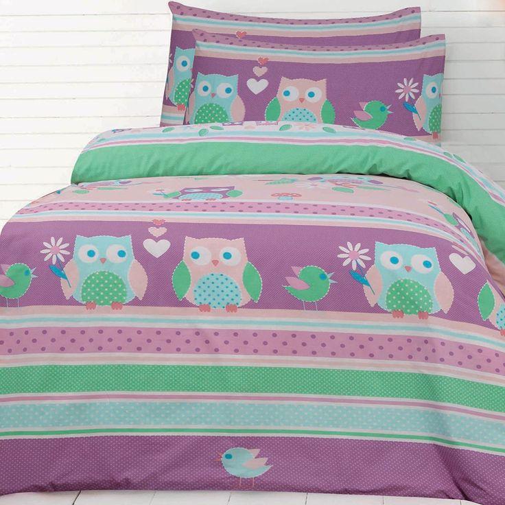 20 best Owl Bedding images on Pinterest   Owls, Bedroom ... : owl double bed quilt cover - Adamdwight.com