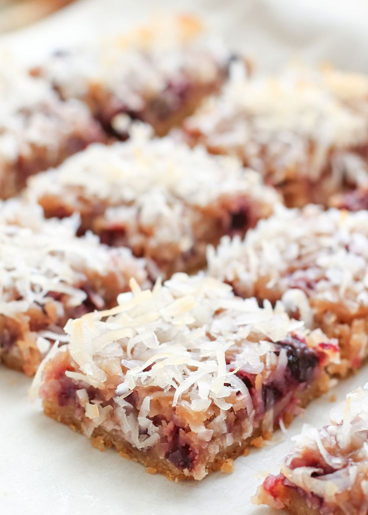 Fresh Cherry Coconut Bars (traditional and gluten free recipes) by Barefeet In The Kitchen