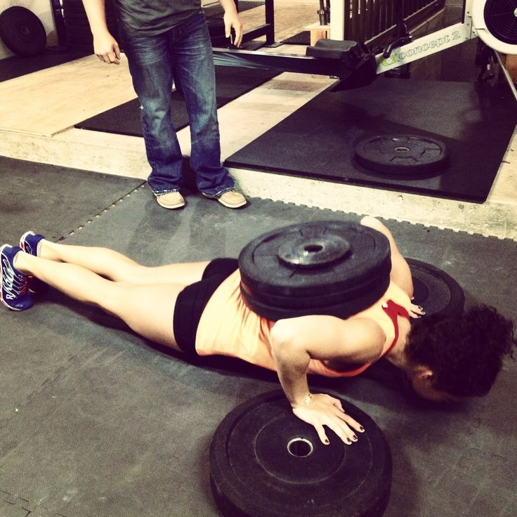 Weighted Deficit Push Ups