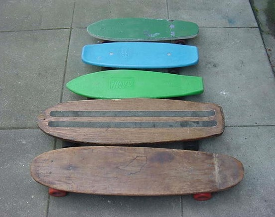 5 Vintage 1970s Skateboards, SUITABLE FOR: Vintage shredding, NOT SUITABLE FOR: The balance-challenged – decks were narrower back in the day