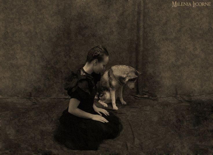 The Wolf The Girl In Black Dress 2 by MileniaLicorne.deviantart.com on @deviantART
