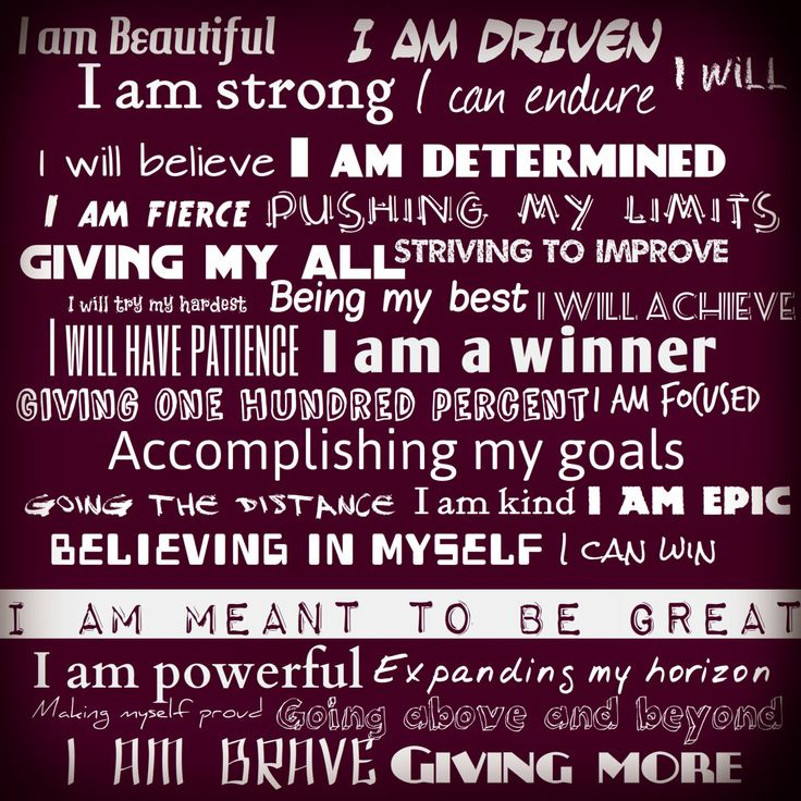 Workout Words: Positive Fitness Affirmations. Frame It, Hang It Up And