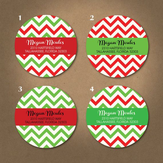 Christmas stickers custom round return address by rigbyandfable