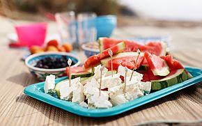 Strandliv och picknickmat