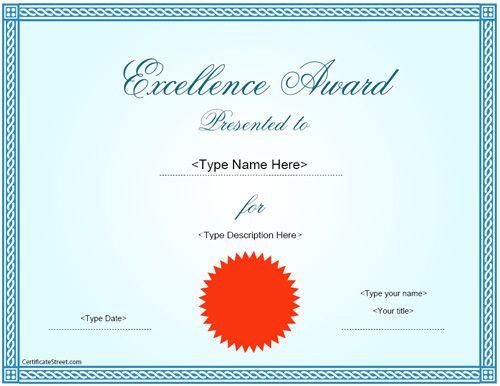 Best 25+ Award certificates ideas on Pinterest Award template - award certificate