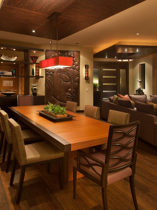 Decorating Fabulous Asian Interior Design For Dining Room With Modern Set Style Also