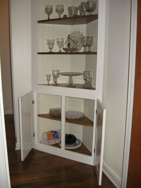 Construct A DIY Corner Cabinet To Take Advantage Of Unused Space In Kitchen