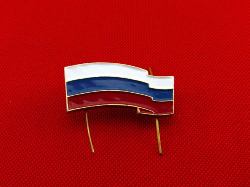 Russian-Metal-Pin-Badge-Flag-of-Russia-on-Beret-New
