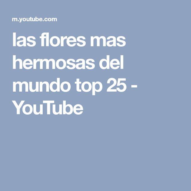 las flores mas hermosas del mundo top 25 - YouTube