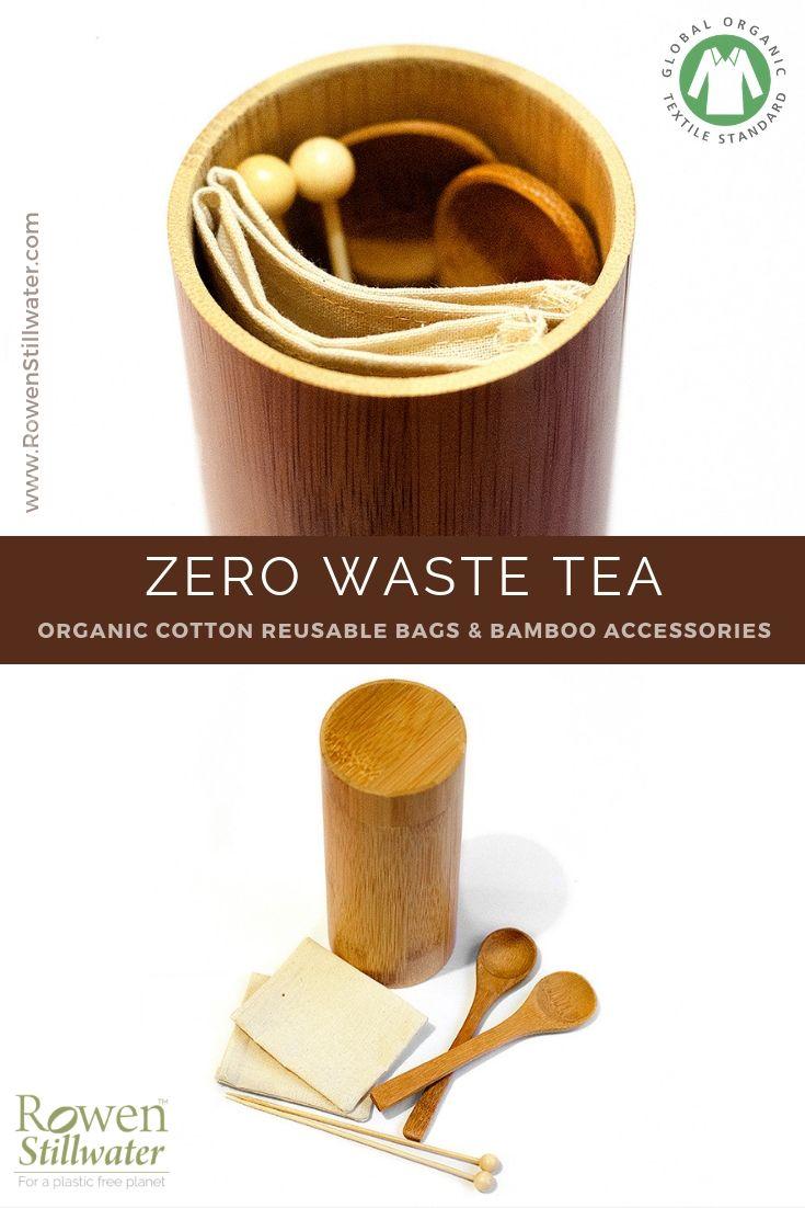 Plastic Free Organic Reusable Tea Bags That Simply Balance On The