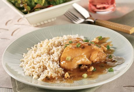 Slow-Cooked Orange Chicken: Come home to this delicious, Asian-inspired chicken dinner that slow cooks all day to yield delicious results.