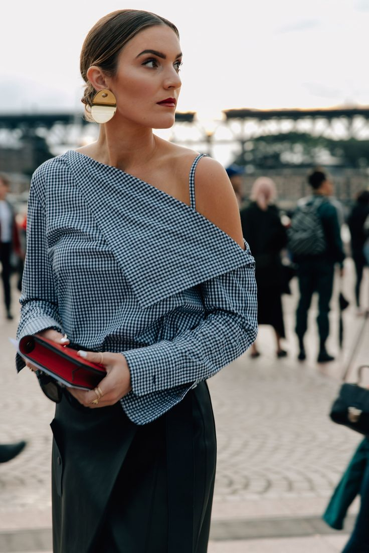Gingham check Shirt.....The Best Street Style From Australian Fashion Week