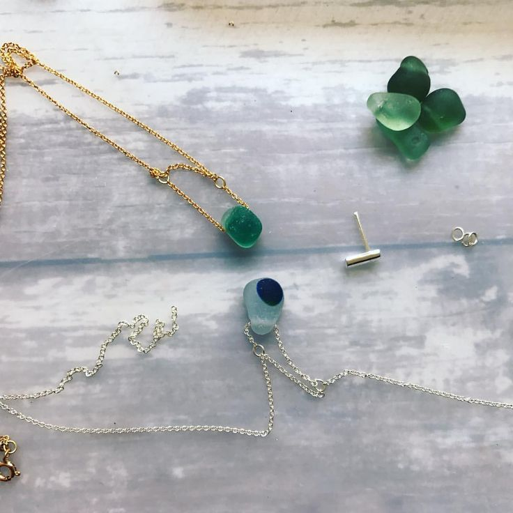On the bench - Antique sea glass jewellery by Artisan jeweller Kriket Broadhurst  Antique seaglass jewelery