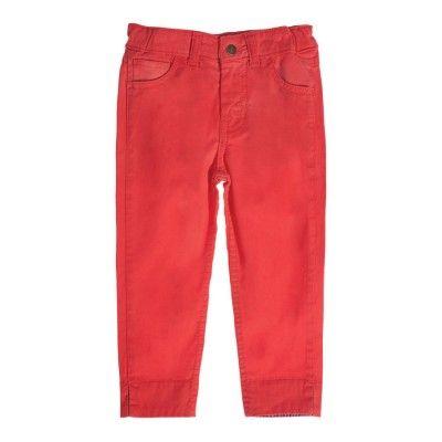 Frugi Παντελόνι Κάπρι για Κορίτσια – Washed Red - Sunnyside