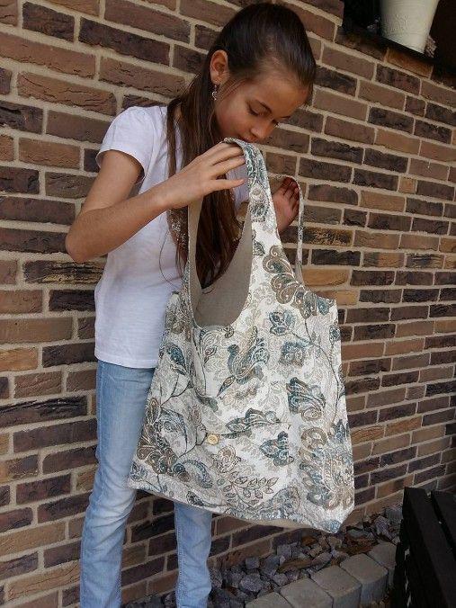 shabby.romantic / Ľanová taška na nákupy