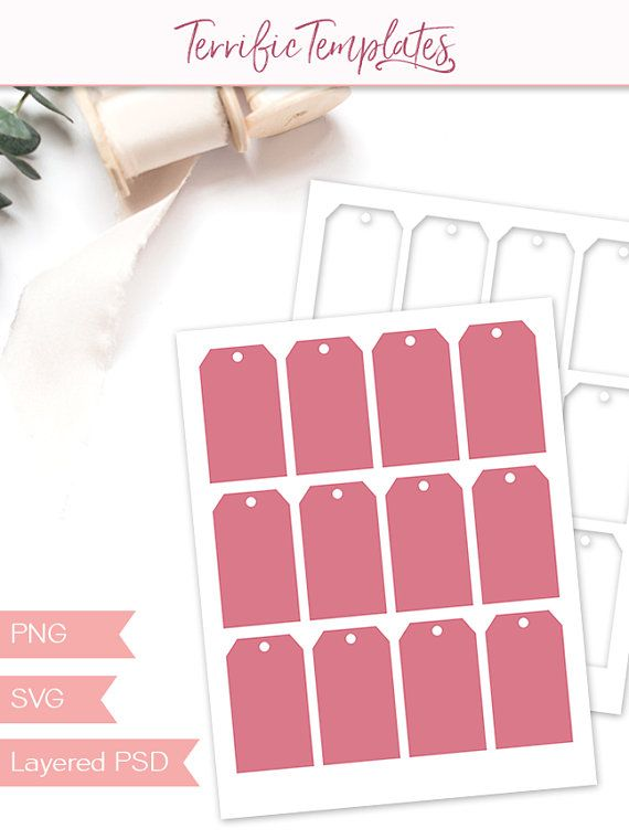 Gift Tag Template Party Printable Craft Template Present Tag
