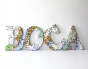 DIY Map Letters Tutorial | Step by Step | Bright Bold and Beautiful