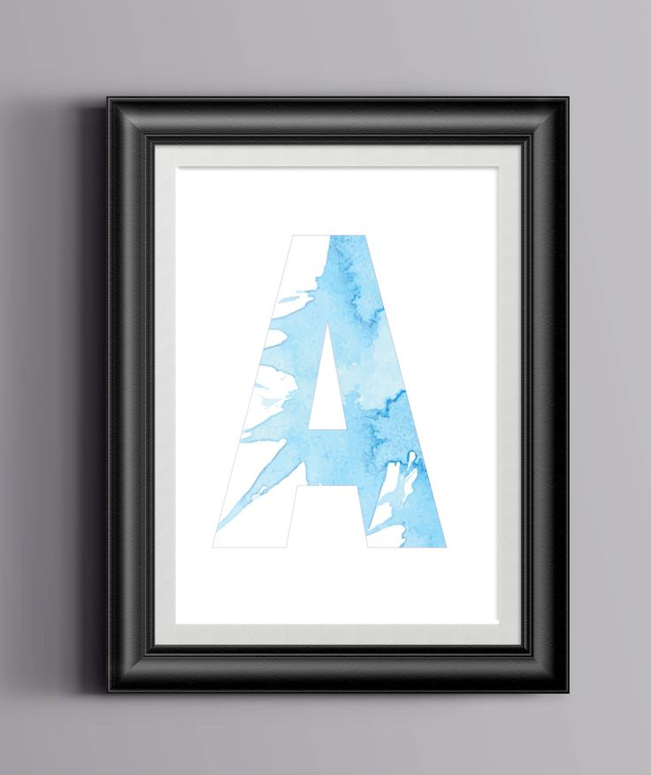Letter A Watercolour Digital Print, Monogram A, Letter A, Letter A Poster, A is for, Watercolor Print Letter A, digital download, Instant by PaperJamink on Etsy