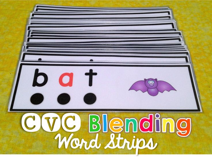 Over 100 strips to practice sounding out and blending CVC words.