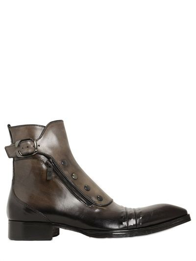 JO GHOST - GRADIENT LEATHER BOOTS - LUISAVIAROMA - LUXURY SHOPPING WORLDWIDE SHIPPING - FLORENCE