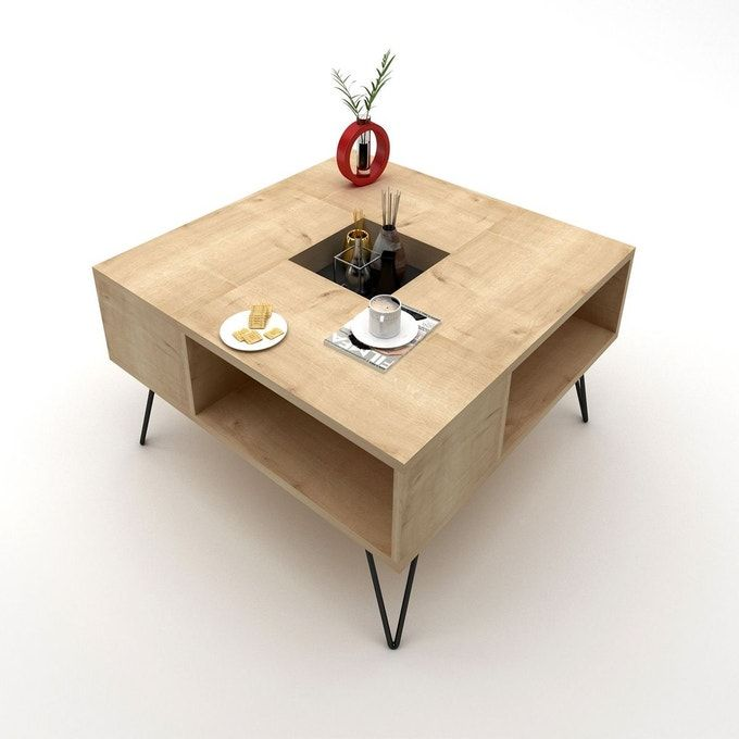 Table Basse Design Lord L 80 X H 38 6 Cm En 2020 Table Basse Design Table Basse Table Basse Bois
