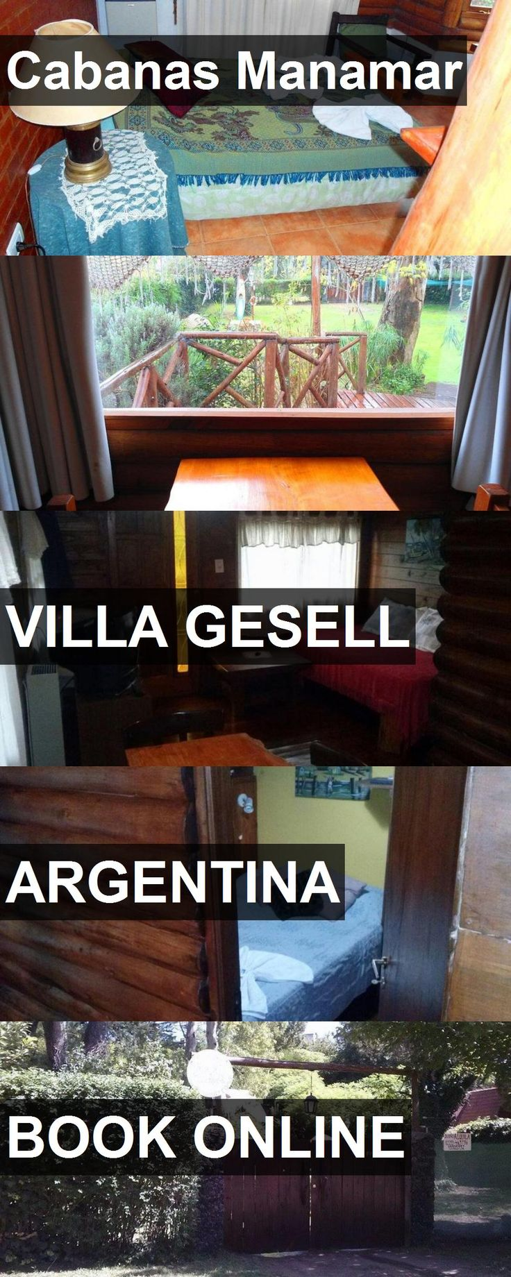 Hotel Cabanas Manamar in Villa Gesell, Argentina. For more information, photos, reviews and best prices please follow the link. #Argentina #VillaGesell #travel #vacation #hotel
