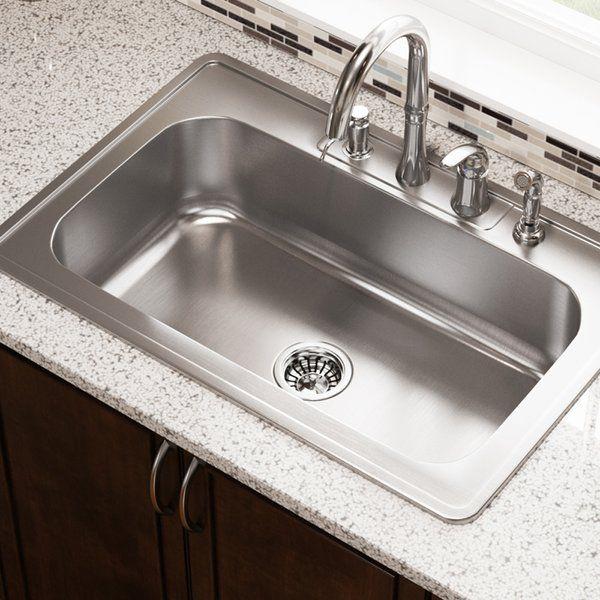 Stainless Steel 33 X 22 Drop In Kitchen Sink Drop In Kitchen Sink Steel Kitchen Sink Single Bowl Kitchen Sink