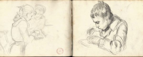 http://flavorwire.com/232810/inside-the-sketchbooks-of-famous-artists/3