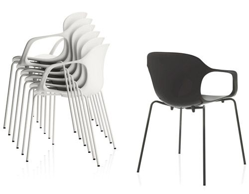 :: FURNITURE :: Nap Stackable Arm Chair Design Kasper Salto, 2010, Steel,  Nylon Shell Made In Denmark By Fritz Hansen, Lovely Option For Condo Liviu2026