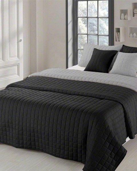 Obojstranna prikryvka na manzelsku postel v sivej farbe (3)