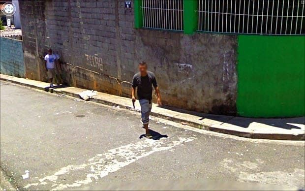 The Nine Eyes of Google Street View: a photo project by Jon Rafman. 80 Rua Giulio Eremita, São Paulo, Brasil, 2010 Picture: Google Street View. Courtesy of Jon Rafman