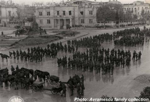 Romanian troops in Sevastopol