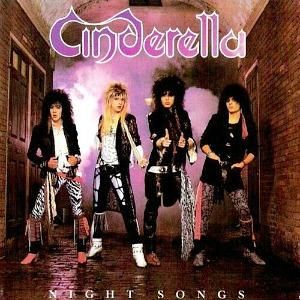 "80s Glam Metal Band Cinderella on the cover of their 1986 album ""Night Songs""."
