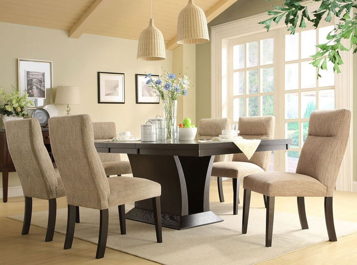 Homelegance Avery 7 Piece Dining Set   Espresso   Dining Table Sets At  Hayneedle