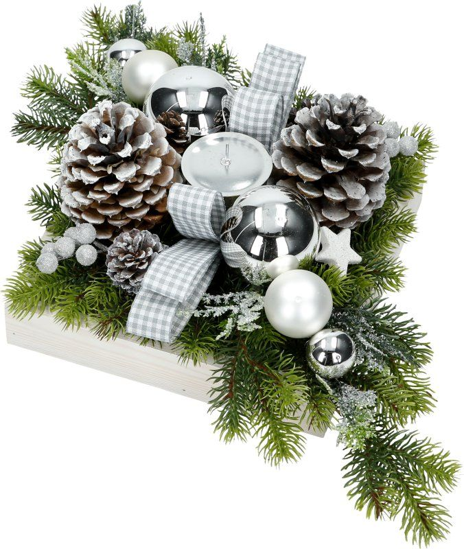 Stroik Bozonarodzeniowy Swiateczny 50cm Na Stol S4 7038894323 Oficjalne Archiwum Allegro Christmas Wreaths Holiday Decor Decor