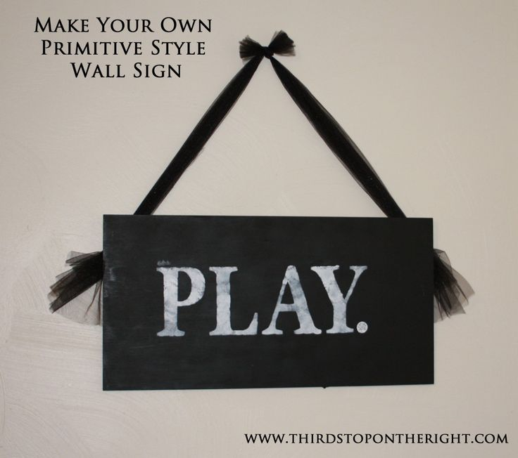 Make Your Own Primitive Style Wall Sign -- super cheap and easy!