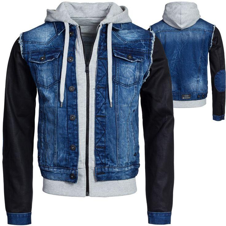 cipo baxx herren jeansjacke jeans bergangs jacke schwarze rmel c. Black Bedroom Furniture Sets. Home Design Ideas