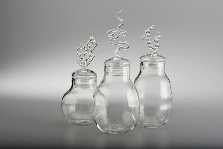 Tris of Marin Jars | Piercing Eyes | Distilled Art Pieces