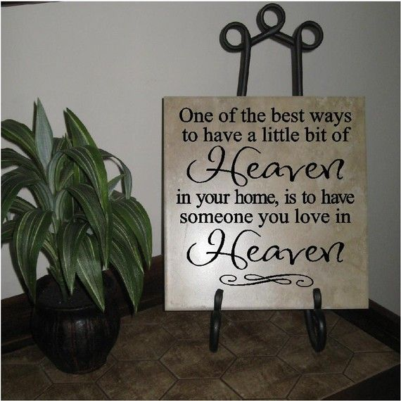 This will be going in my future home to remember Aaron's step dad who passed away in June. Beautiful statement.