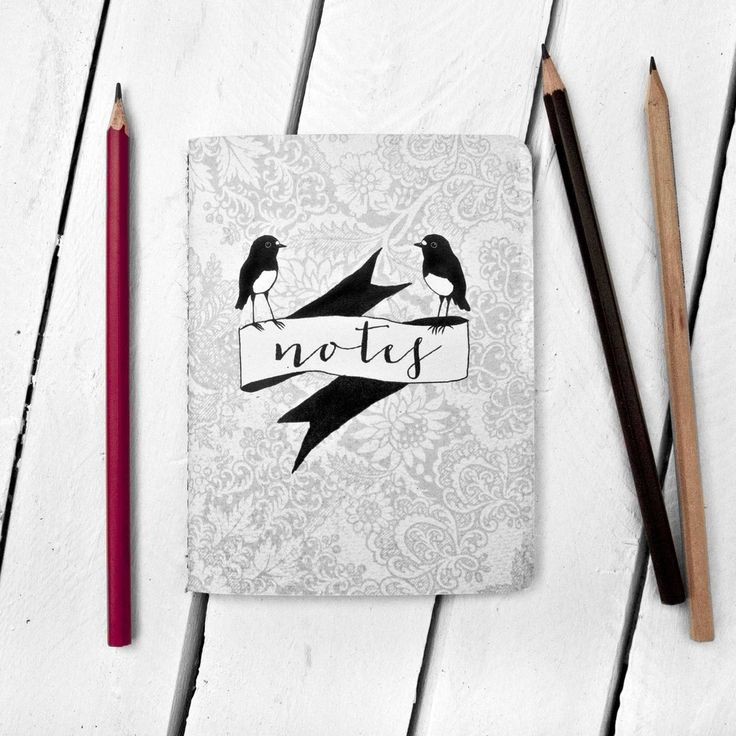 Image of Robins on Ribbon Notebook