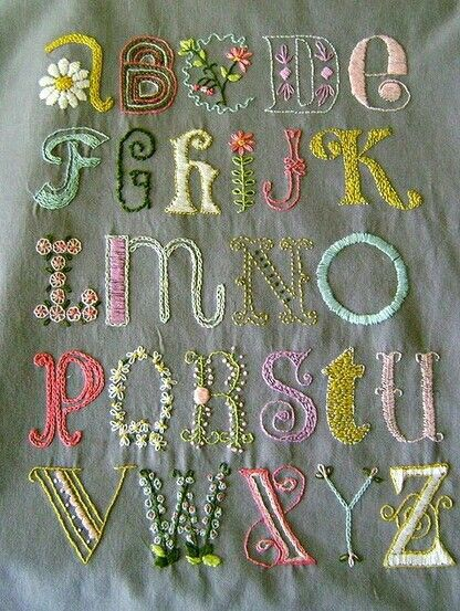 Alphabet in Embroidery