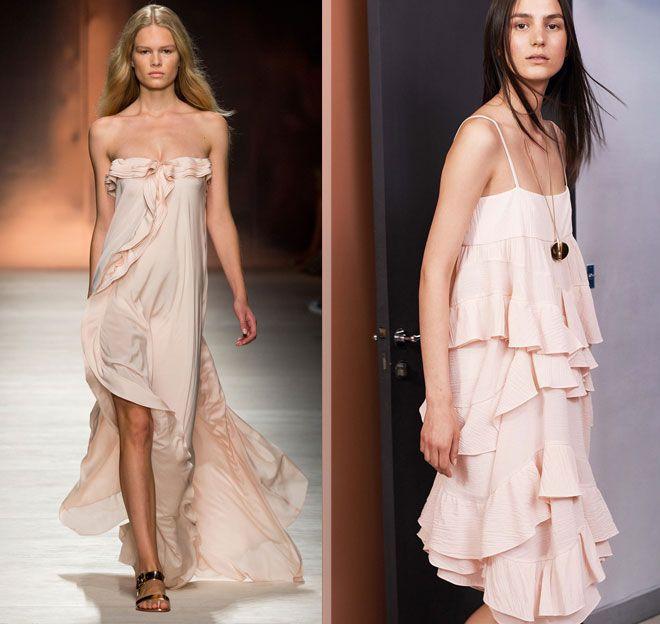 нежно-розовые платья Blumarine, Chloé