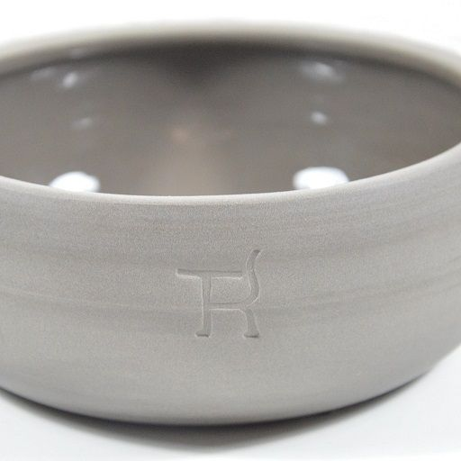 TREUSINN - Hundenapf Keramik Schiefer  Exklusiver und formschöner Hundenapf aus Keramik