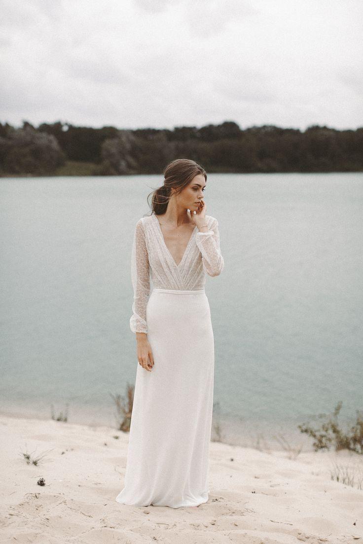Simple White Wedding Dress Wedding Dresses Vintage Wedding Dress Boho Summer Wedding Dress