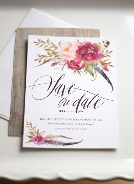 New Floral Save the Dates We Love!