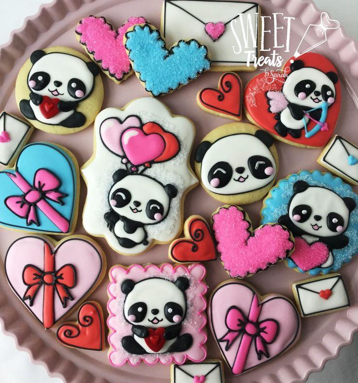 Valentine Panda Cookies #valentinesday #panda