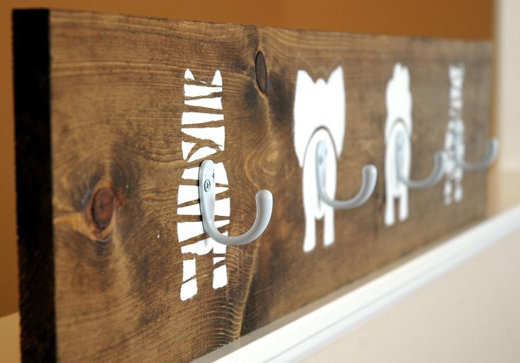 Dieren kapstok | Animal Bums Coat Hook by The Turquoise Piano #DIY