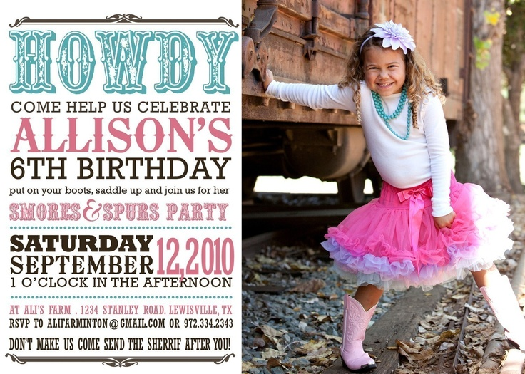 birthday party invitation western birthday party by westwillow
